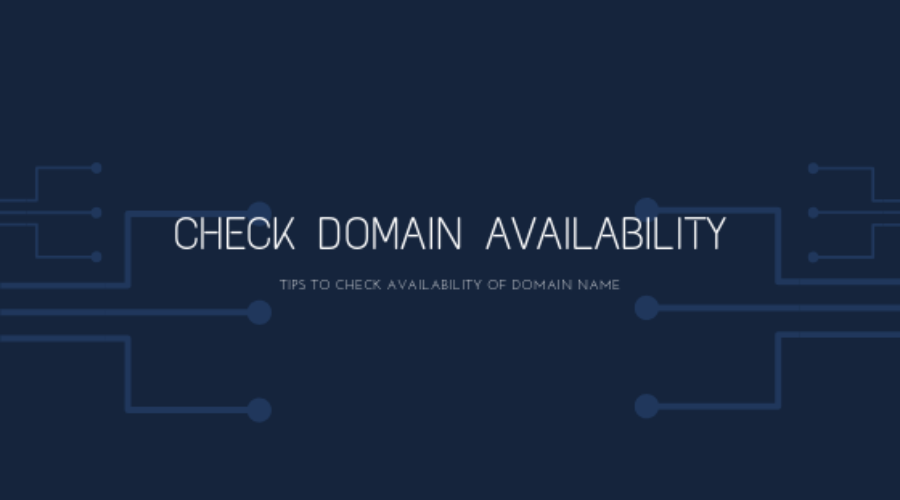 A technique of checking domain name availability